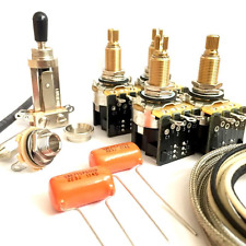 Jimmy Page Les Paul Wiring Kit (CTS Long Shaft Push Pull Pots)
