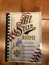 Marquis Grissom SIGNED AUTO Milwaukee Brewers ALL STAR RECIPES COOK BOOK  JSA