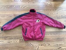 NFL Men's Washington Redskins Reversible Full-Zip Coat Jacket Fleece Sz M EUC