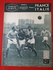 06/04/48 miroir sprint  n° FOOTBALL SPECIAL MATCH FRANCE ITALIE 8 pages