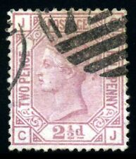 GB QV 1875, 2 1/2d. Claret,  SC66, SG139. Plate 1. XF Used