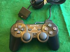 Sony PlayStation 2 PS2 Dualshock 2 Wired Controller Black Genuine Authentic OEM