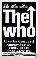 "The Who 1996 ""Quadrophenia 2nd Tour"" San Jose Concert Poster -Classic Arrow Logo"