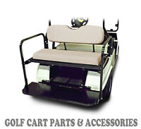 Club Car DS Golf Cart Rear Flip Seat Kit (1982-2000.5)  *BUFF SEAT CUSHIONS*