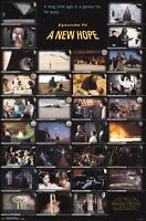 STAR WARS MOVIE POSTER ~ NEW HOPE FRAMES 22x34 Episode IV 4 A