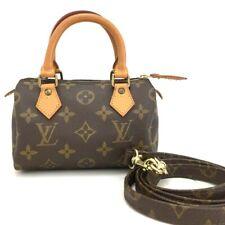 Louis Vuitton Monogram Mini Speedy Hand Bag w/Shoulder Strap /10903