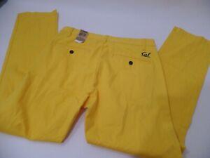 Dockers Cal Golden Bears logo Mens Campus Yellow Chino Pants Brand New 32X30
