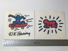 Keith Haring Sticker decals from Pop Shop Extremely Rare Skate & Baby Crawl