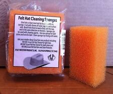 NEW Prof. HAT CLEANING SPONGE Package of 2 for ALL Felt HATS Western Fedora etc