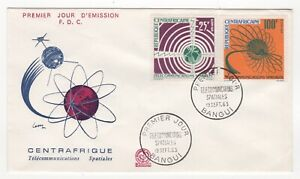 1963 CAR First Day Cover SPACE COMMUNICATIONS SATELLITE SG37/38 Bangui
