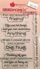 Woodware Clear Magic Supportive Words stamp set - FRS616