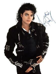 Michael Jackson King of Pop Autographed signed 8.5 X 11 Photo Reprint