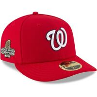 New Era Washington Nationals World Series Patch Hat 59Fifty 5950 Low 7 1/2 NEW