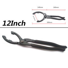 12'' Adjustable Universal Car Clamp Oil Filter Plier Wrench Hand Removal Tool