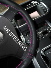 FOR 08-12 MERCEDES BENZ CLC LEATHER STEERING WHEEL COVER HOT PINK DOUBLE STITCH