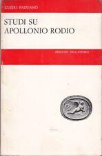 STUDI SU APOLLONIO RODIO.  PADUANO GUIDO EDIZ.DELL'ATENEO 1972