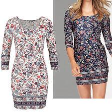 hübches Kleid Gr.44  Jerseykleid Stretch SHIRTKLEID weiß geblümt Paisley Muster