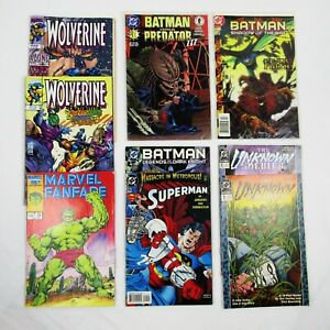 DC Marvel Lot of 9 Comics Batman Wolverine Superman Hulk Unknown Soldier Random