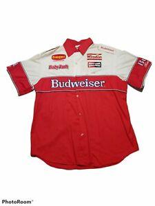Vintage Nascar Winston Cup Budweiser Pit Crew Member Suit 90s Rare Shirt w Pants