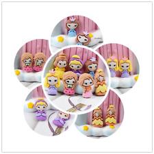 DIY 10 pcs Mixed Cabochons Princess Resin Craft Decor Flatbacks Girls 2-3cm