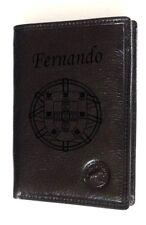 portefeuille cuir vachette gravé personnalisé gravure escudo  portugal drapeau