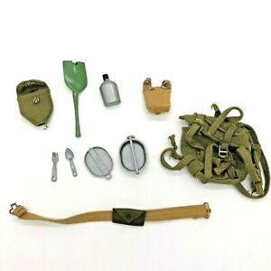 Vintage 1964 Hasbro GI Joe Action Soldier Combat Field Pack Set 7502 Accessories