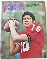 1971 Chicago Bears vs. New Orleans Saints Program Jim Plunkett Cover Butkus