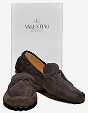 VALENTINO Suede Driver Moccasins, Brown 43 IT 10D US ITALY $920