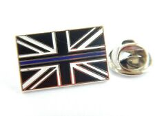 Thin Blue Line Lapel Pin Badge Police Service Remembrance Subdued Union Jack