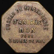 Bureau De Bienfaisance D'Aniche Bon Pour 3 Livres De Pain Brass Jeton | KM Coins
