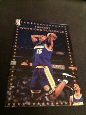 1996-97 Golden State Warriors Basketball Pocket Schedule Target Version