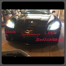 1997-2013 c5/c6 Corvette Switchback (White & Amber) LED DRL bulbs FREE Resistors