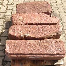 13 Buntsandstein Quader antik Naturstein Pfeiler Garten Mauer Zaunpfosten G 8-10