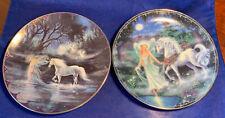 Bradford Exchange Unicorn Collector Plates Enchanted Journey Fairyland