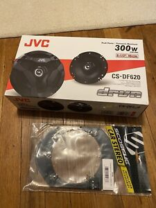 JVC CS-DF620 Flush Mount Car Speakers and adapter