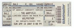 Cool WOLFMOTHER 4/15/07 San Francisco CA Warfield Concert Ticket!
