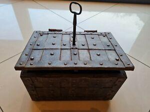Antique 17th Century Armada Chest Strongbox Nuremberg