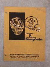 1976 Pittsburgh Steelers Alumni Luncheon Program Super Bowl X