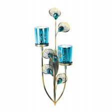 Gallery of Light Peacock Plume Candle Wall Sconce