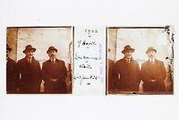 Uomini Cappello Lausanne Suisse Foto Placca P45L4n1 Lente Positivo Stereo 1922
