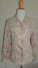 WOMEN'S ALFRED DUNNER TAN PAISLEY 100% POLYESTER BLAZER SIZE 12