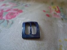 Vintage Small Blue Mother of Pearl Buckle - Suit Dolls Clothes