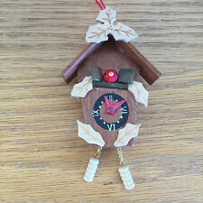 Cookoo Clock Christmas Holiday Ornament   Hands Move   4 1/2""