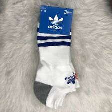 ADIDAS Originals Roller No Show Socks 3 Pairs Men's sz (6-12) 716106845772