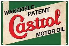 CASTROL WAKEFIELD MOTOR OIL VINTAGE  TIN SIGN LARGE