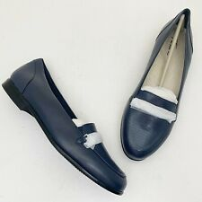 TROTTERS Anastasia Blue Leather Loafers - Size 9M NEW