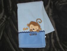 Child of Mine Security Blanket Carter's Monkey Snuggly Lovey Blue Fleece Ant