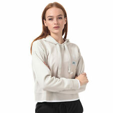 Womens adidas Originals Cropped Hoody In Raw White