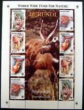 BURUNDI WILD ANIMAL STAMPS SHEET OF 8 WWF 2004 MNH WILDLIFE SITATUNGA ANIMALS