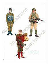 PLANCHE UNIFORMS PRINT WWII JAPAN ARMY ARMEE JAPON Imperial Parachutist 1943